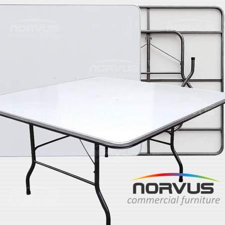 Mesa plegable rectangular 180x75 cubierta en fibracel