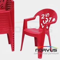 Liston para silla 250x15cm tela Tafetan rojo