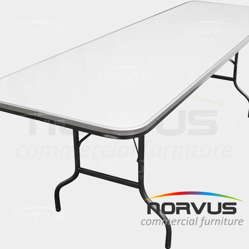 Mesa plegable redonda 150 cubierta en fibra de vidrio